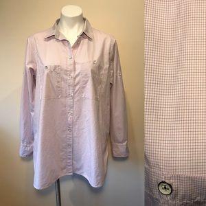 Rag & Bone Shirt Red White Check Women's Large
